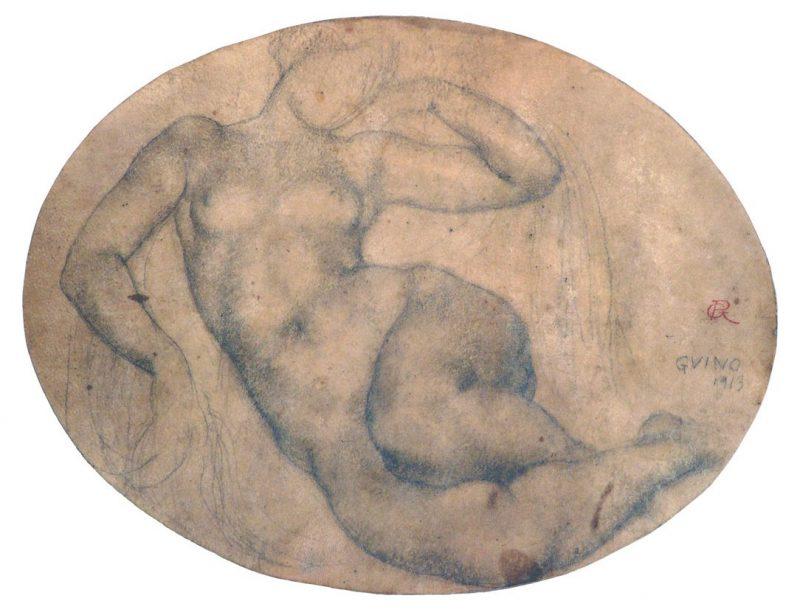 Nu allongé - Richard Guino, 1913