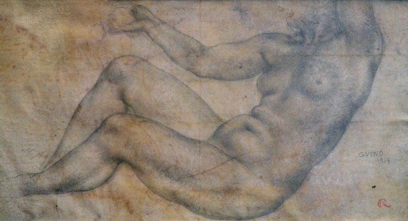 Nu assis aux bras levés - Richard Guino, 1913