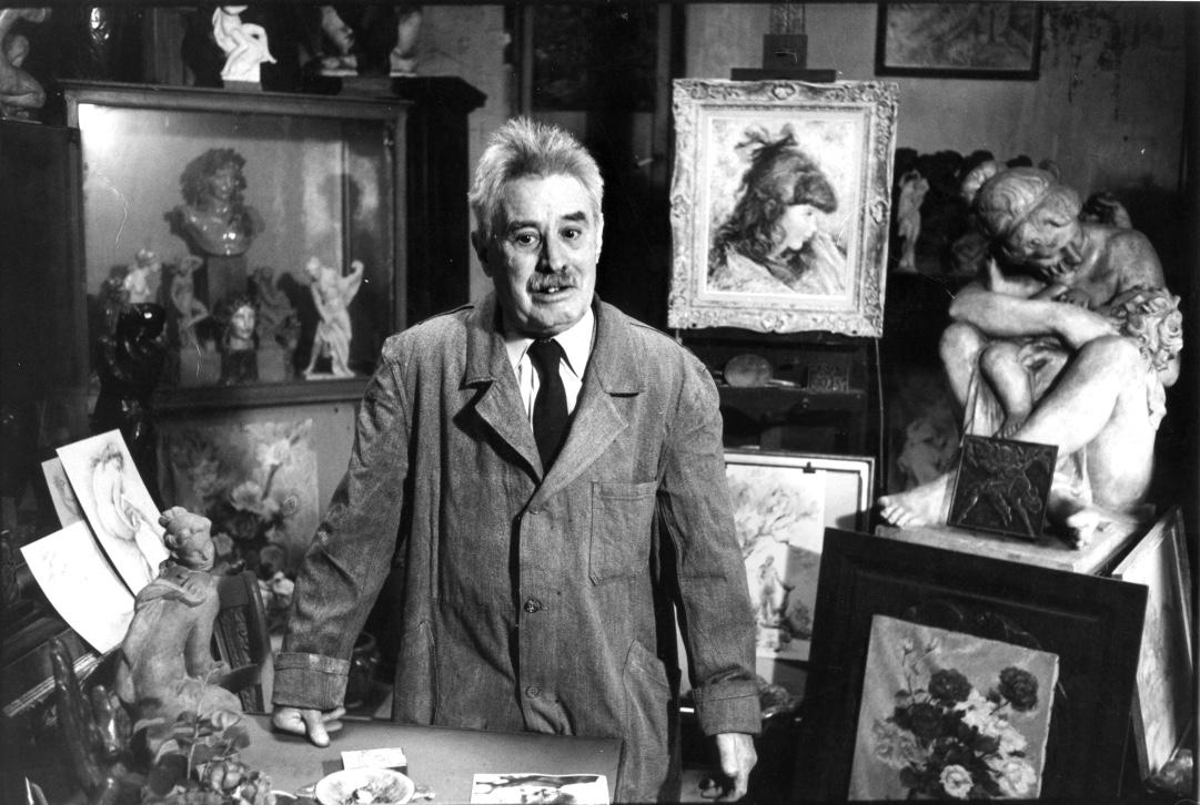 Richard Guino interviewé dans son atelier d'Antony en 1968