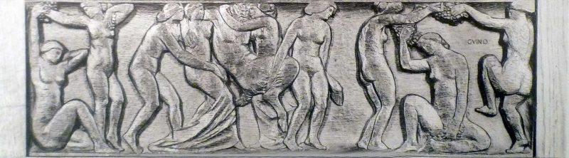 Bacchanale, bas-relief - Richard Guino, c. 1912