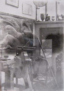 L'atelier de Richard Guino dans les années 10