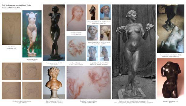 Œuvres du cycle de création La Vendangeuse, inspirée par Eulalie Verdier, compagne de l'artiste durant les années 10