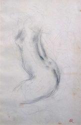 Esquisse de nu - Richard Guino, c. 1910