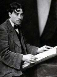 Richard Guino dessinant, c. 1912