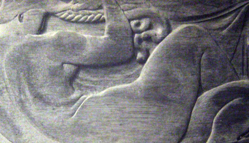 Femme allongée aux nattes - Richard Guino, c. 1912