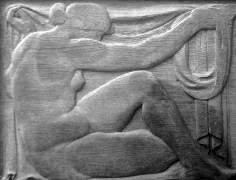 Femme assise à la draperie, Richard Guino c. 1912
