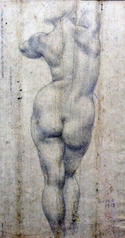 Nu de dos - Richard Guino, 1913